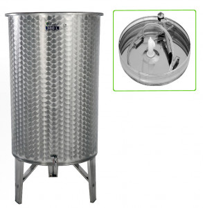 Hlavný obraz produktu Nerezová nádrž s plávajúcim vekom INOX, 380 l - 1 ventil - typ duša