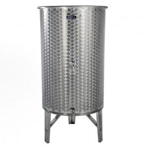 Hlavný obraz produktu Nerezová nádrž s plávajúcim vekom INOX, 380 l - 2 ventil