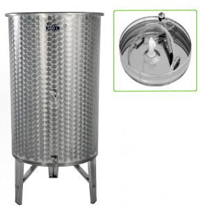 Hlavný obraz produktu Nerezová nádrž s plávajúcim vekom INOX, 380 l - 2 ventil - typ duša