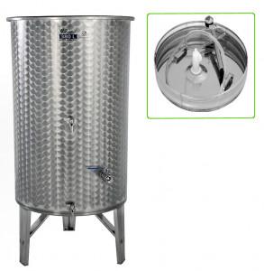 Hlavný obraz produktu Nerezová nádrž s plávajúcim vekom INOX, 380 l - 3 ventil - typ duša