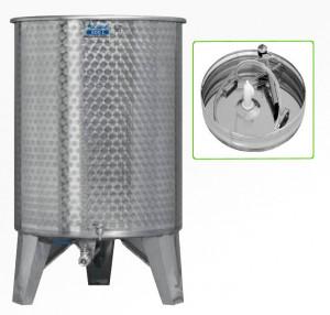Hlavný obraz produktu Nerezová nádrž s plávajúcim vekom INOX, 500 l - 1 ventil - typ duša