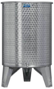 Hlavný obraz produktu Nerezová nádrž s plávajúcim vekom INOX, 500 l - 2 ventil