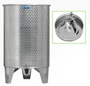 Hlavný obraz produktu Nerezová nádrž s plávajúcim vekom INOX, 600 l - 1 ventil - typ duša
