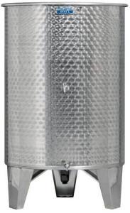 Hlavný obraz produktu Nerezová nádrž s plávajúcim vekom INOX, 600 l - 2 ventil
