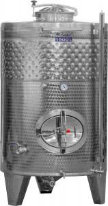 Hlavný obraz produktu Cisterna INOX, 1100 l s chladiacim plášťom
