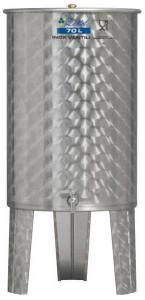 Hlavný obraz produktu Nerezová nádrž s plávajúcim vekom INOX, 70 l