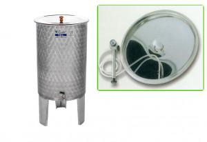 Hlavný obraz produktu Nerezová nádrž s plávajúcim vekom INOX, 70 l - typ duša