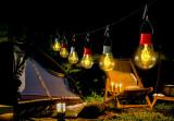 Záhradná solárna lampa Bulby