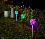 Záhradná solárna lampa Ophris