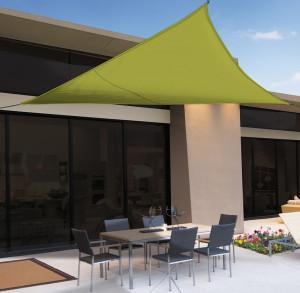 Hlavný obraz produktu Slnečná plachta 3,6 x 3,6x 3,6 m zelená