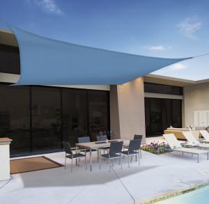 Hlavný obraz produktu Slnečná plachta 3,6 x 3,6m modrá, polyester