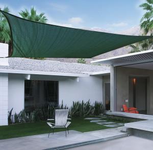 Hlavný obraz produktu Slnečná plachta 3,6 x 3,6m zelená