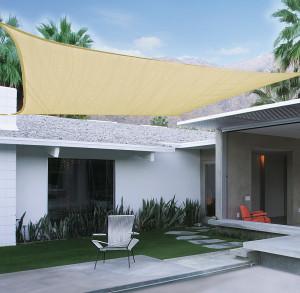 Hlavný obraz produktu Slnečná plachta 3,6x3,6m béžová polyester