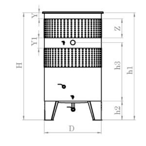 Hlavný obraz produktu Nerezová nádrž s plávajúcim vekom INOX, 2450 l s dupkilovaným chladiacim plášťom
