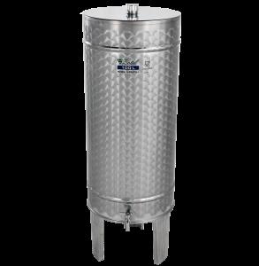 Hlavný obraz produktu Nerezová nádrž na destiláty - stojacia - 150 l