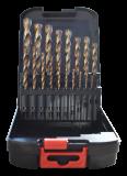 Abraboro HSS-Co SPEED 19 részes fémfúró készlet, fém dobozban