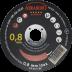Abraboro 125 x 0.8 x 22 mm CHILI INOX GOLD EDITION fémvágó korong, 25db/csomag