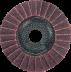 Abraboro 125 x 22 vlies csiszolótányér (vörös), közepes