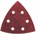 Abraboro 94 x 94 mm delta csiszolópapír 6 lyukkal, 80-as szemcseméret, 50db/csomag