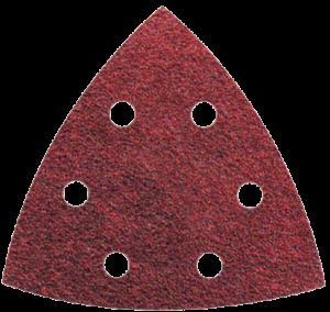 Abraboro 94 x 94 mm delta csiszolópapír 6 lyukkal, 120-as szemcseméret, 50db/csomag termék fő termékképe