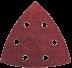 Abraboro 94 x 94 mm delta csiszolópapír 6 lyukkal, 40-es szemcseméret, 50db/csomag