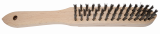 Abraboro Fanyelű kézi kefe, egyenes, INOX