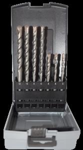 Abraboro 7 részes SDS-plus TRINITY betonfúró készlet, műanyag dobozban termék fő termékképe