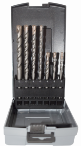 Abraboro 7 részes SDS-plus TWIXX betonfúró készlet, műanyag dobozban termék fő termékképe