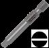 Abraboro 0.8 x 5.5 x 50 mm lapos SUPRA bit, 10db/csomag