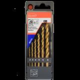 Abraboro HSS-GS TIN 6 részes fémfúró készlet, műanyag dobozban