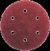 150 mm kör alakú csiszolópapír 6 lyukkal, 80-as szemcseméret, 50 db