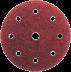 150 mm kör alakú csiszolópapír 8+1 lyukkal, 80-as szemcseméret, 50 db
