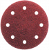 Abraboro 125 mm kör alakú csiszolópapír 8 lyukkal, 320-as szemcseméret, 50db/csomag