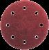 Abraboro 125 mm kör alakú csiszolópapír 8 lyukkal, 80-as szemcseméret, 50db/csomag
