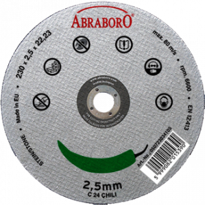 Abraboro 230 x 2.5 x 22 mm CHILI kővágó korong, 10db/csomag termék fő termékképe