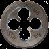 M8 x 1.25 mm HSS-G menetmetsző, DIN EN 22568