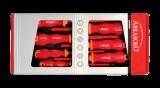 Abraboro T5 red line, szigetelt VDE, 1000 V 7 részes csavarhúzó készlet