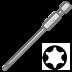 Abraboro T 40 x 70 mm Torx SUPRA bit, 3db/csomag
