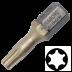 Abraboro T 25 x 25 mm Torx SUPRA-TIN bit, 10db/csomag