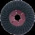 Abraboro 125 x 22 mm ZEC félflexibilis csiszolótárcsa, 80-as szemcseméret, 5db/csomag