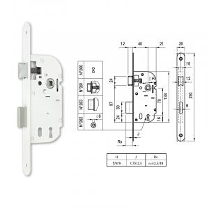 260 normál kulcsos bevésőzár 40/70 mm termék fő termékképe