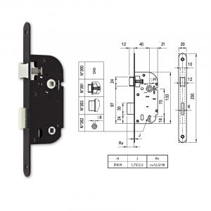 262 fordítógombos bevésőzár 40/70 mm termék fő termékképe