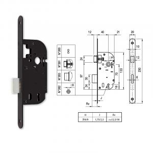 263 normál kulcsos bevésőzár 40/70 mm termék fő termékképe