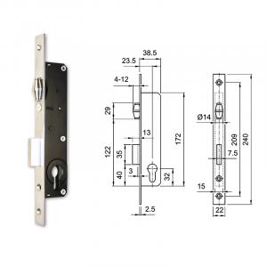 3390 hengerzárbetétes, görgős portálzár termék fő termékképe