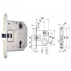3391 normál kulcsos lővér bevésőzár 55/55 mm termék fő termékképe