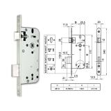 3410-F fogazott kulcsos bevésőzár 45/90 mm