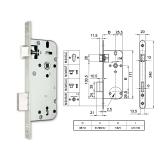 3410-N normál kulcsos bevésőzár 45/90 mm