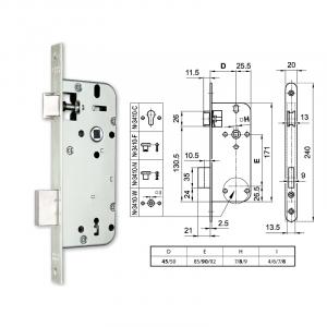 3410-N normál kulcsos bevésőzár 45/90 mm termék fő termékképe