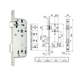 3410-W fordítógombos bevésőzár 45/90 mm termék fő termékképe