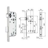 3411 fogazott kulcsos bevésőzár 45/90 mm